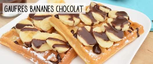 Gaufres bananes chocolat sans gluten