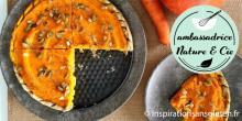 Recette de la tarte potimarron et carotte sans gluten et sans lactose
