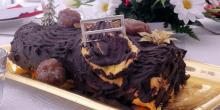 Recette bûche de Noël sans gluten aux marrons