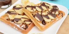 Recette gaufres sans gluten bananes chocolat