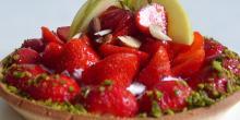 Recette tarte aux fraises sans gluten