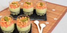 Recette de verrines sans gluten saumon et mousseline d'asperges